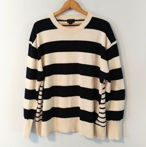 J Crew 100% cashmere mixed striped sweater 2197